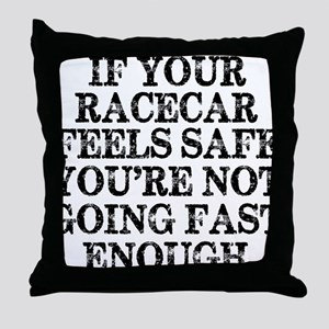 Funny Racing Saying Throw Pillow